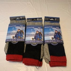 Signature Brands Thermal Socks Boot Length Socks